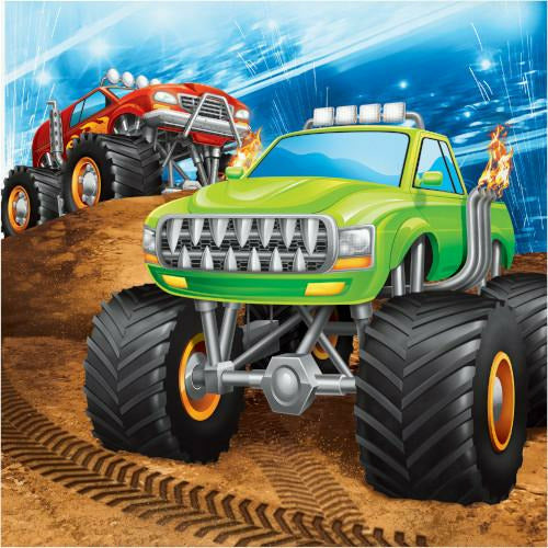 Monster Truck Rally Lunch Napkins 16ct