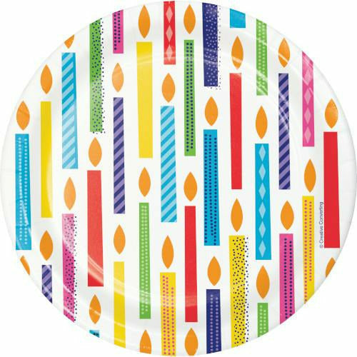 Bright Birthday Lunch Plates 8ct