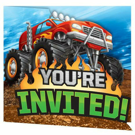 Monster Truck Rally Invitations 8ct