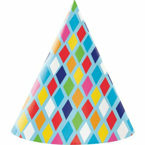Bright Birthday Hats 8ct