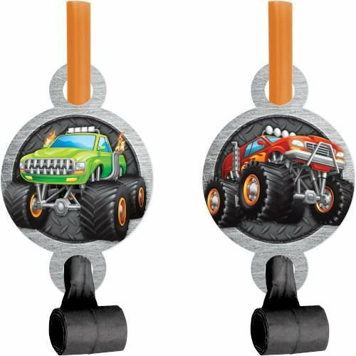 Monster Truck Rally Blowouts with Medallion 8ct