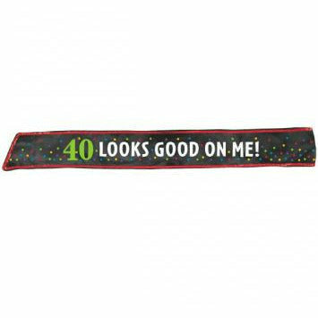 40TH BDAY SASH