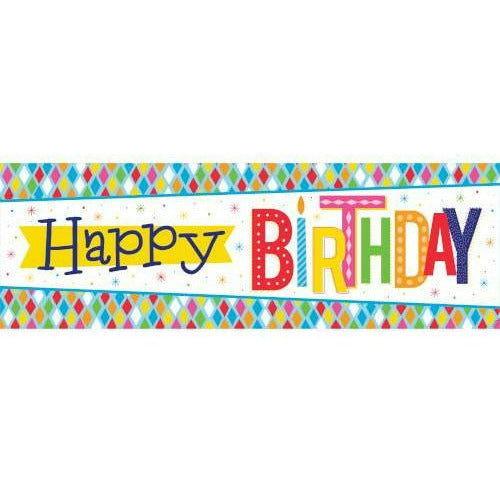 Bright Birthday Giant Party Banner