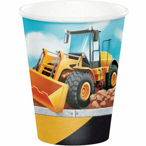 Big Dig Construction Hot / Cold Cups 8ct