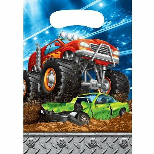 Monster Truck Rally Favor Bags 8ct