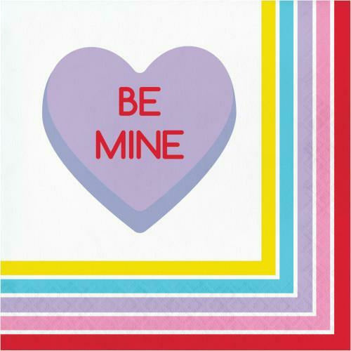 Candy Hearts Lunch Napkins 16ct