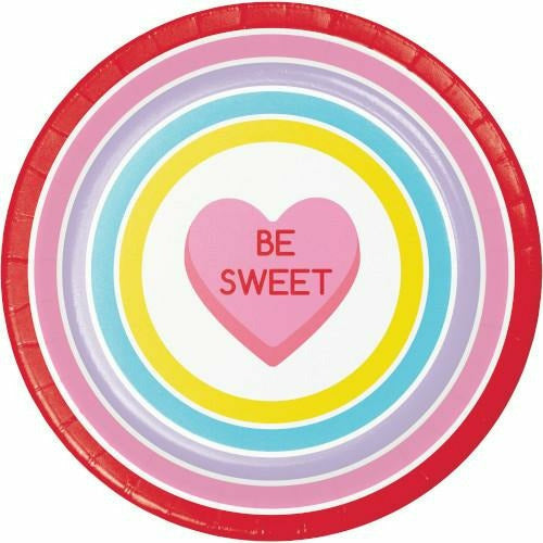 Candy Hearts Dinner Plates 8ct