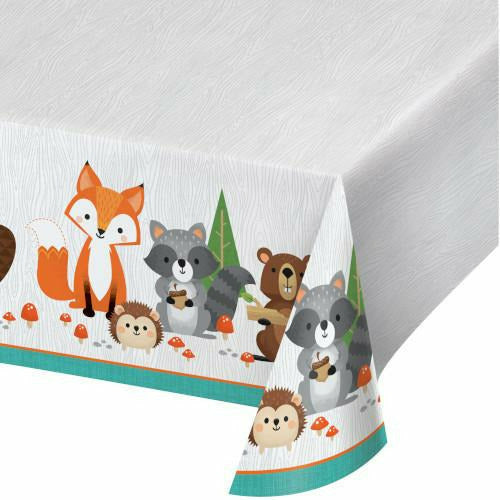 Wild One Woodland Animals Table Cover