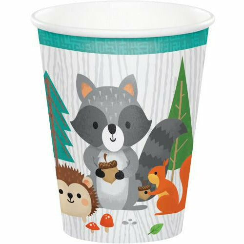 Wild One Woodland Animals Hot / Cold Cups 8ct