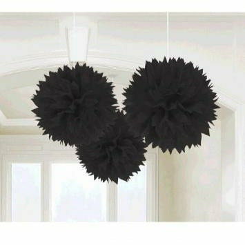 BLACK FLUFFY DECORATION