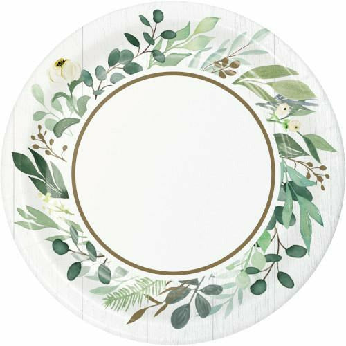 Eucalyptus Greens Lunch Plates 8ct