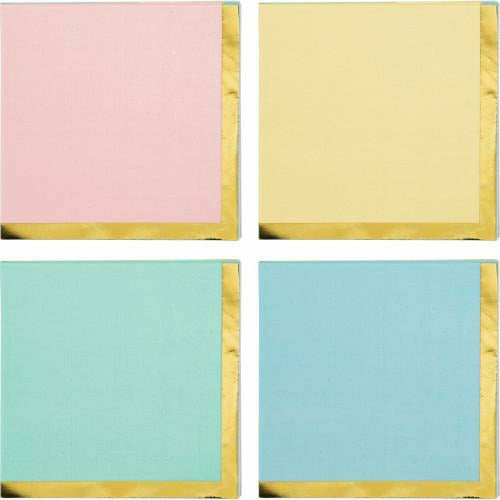 Pastel Celebrations Beverage Napkins 16ct