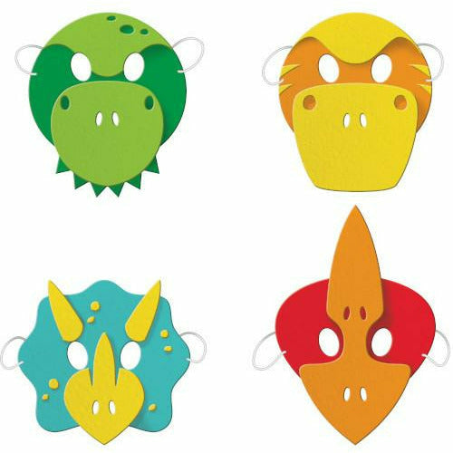 Boy Dino Foam Masks 4ct