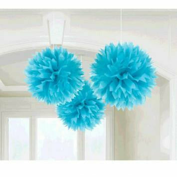 BLUE FLUFFY DECO