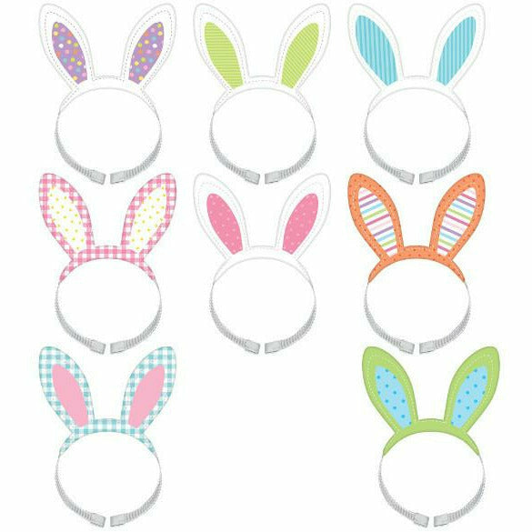 Easter Bunny Headbands 8ct