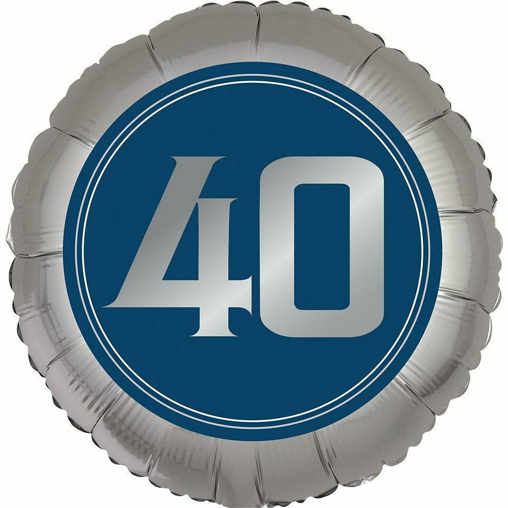 "Happy Birthday 40th Man 18"" Mylar Balloon"