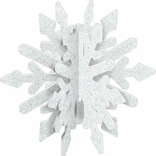 3D Iridescent Glitter Snowflake Decoration