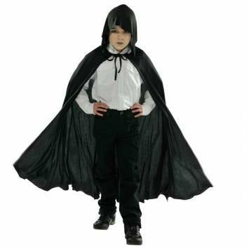 Hooded Black Cape - Child