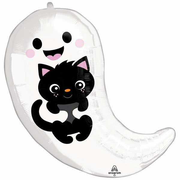 GHOST AND BLACK CAT SHAPE BALLOON