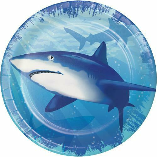 Shark Splash Lunch Plates 8ct