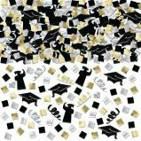 Grad Super Mega Value Confetti - Black, Silver & Gold