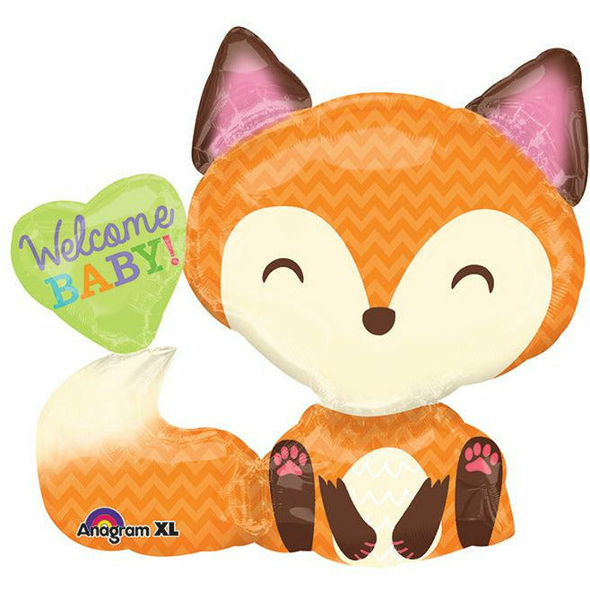 "561 Welcome Baby Fox Jumbo 28"" Mylar Balloon"