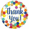 "605 Geometric Thank You 17"" Mylar Balloon"
