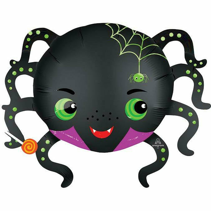 "29""PKG SATIN INFUSED SPIDER BALLOON"