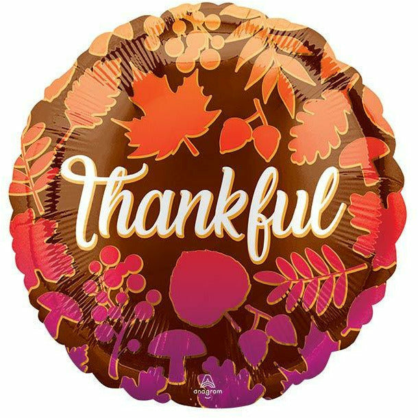 THANKFUL ON OMBRE LEAVES BALLOON