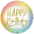 "468 Happy Birthday Ombre Gold 17"" Mylar Balloon"