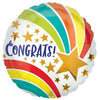 "589 Congrats Shooting Star 17"" Mylar Balloon"