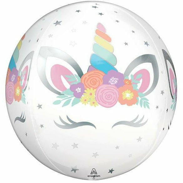 "Unicorn Party Orbz 16"" Mylar Balloon"
