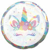 "286 Unicorn Party Iridescent 18"" Mylar Balloon"