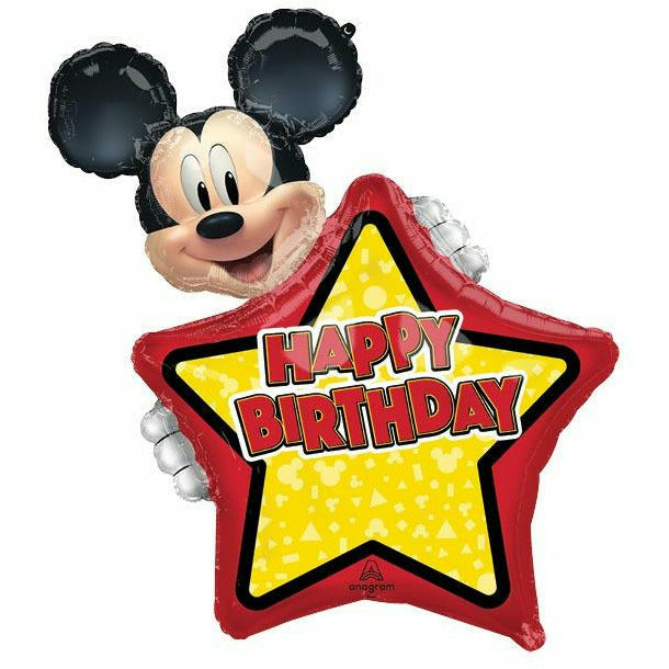 "Happy Birthday Mickey Mouse Personalized Jumbo 30"" Mylar Balloon"