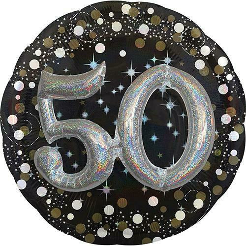 "365 3D 50th Birthday Jumbo 32"" Mylar Balloon"