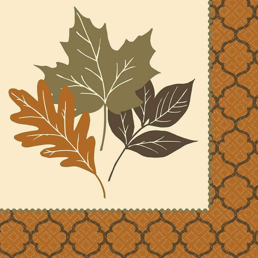 COPPER LEAVES DINNER NAPKIN
