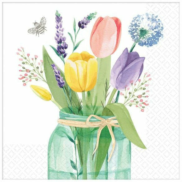 Tulip Garden Lunch Napkins 16ct