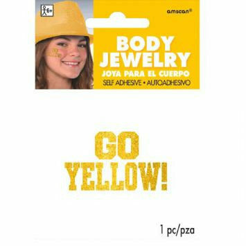 GO BODY JEWELRY YELLOW