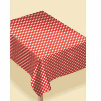I6 GINGHAM  VINYL TABLECOVER