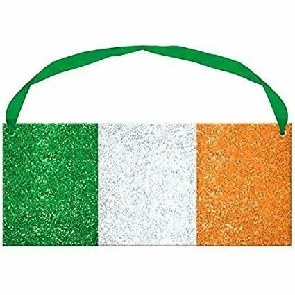 Glitter Ireland Flag Sign