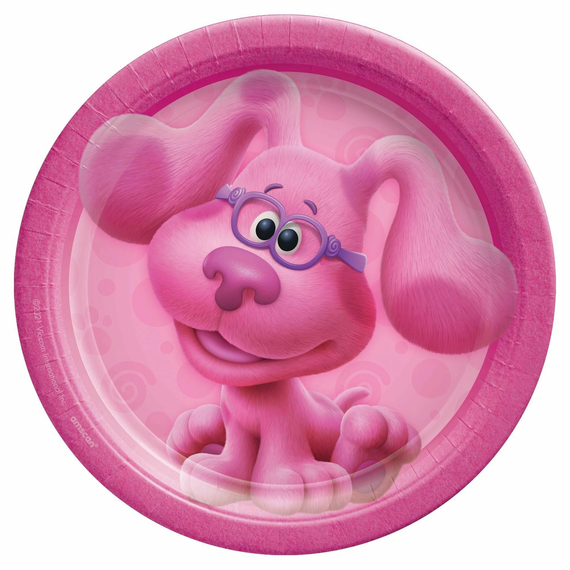 "Blues Clues 7"" Round Plates - Pink"