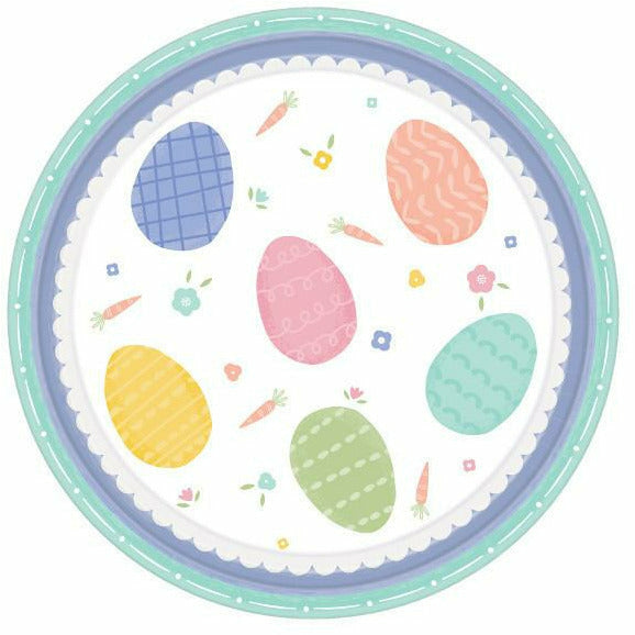 Pretty Pastel Easter Dessert Plates 8ct