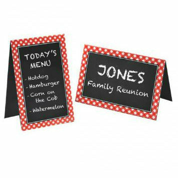 I6 CHALKBOARD TENT CARDS