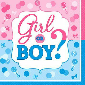 BOY OR GIRL? Lunch Napkins