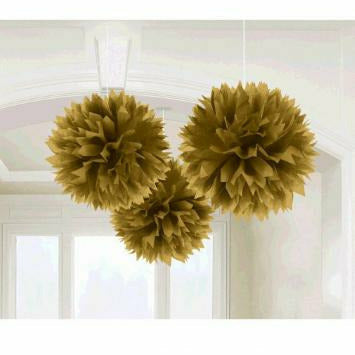 GOLD FLUFFY DECOR