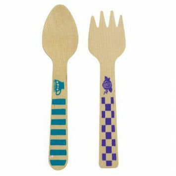 Mad Tea Party Wooden Cutlery