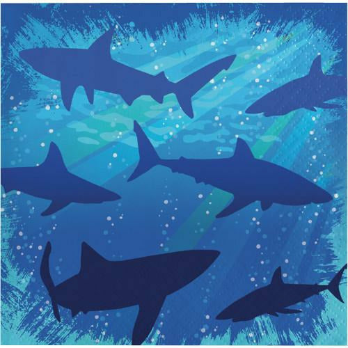 Shark Splash Beverage Napkins 16ct