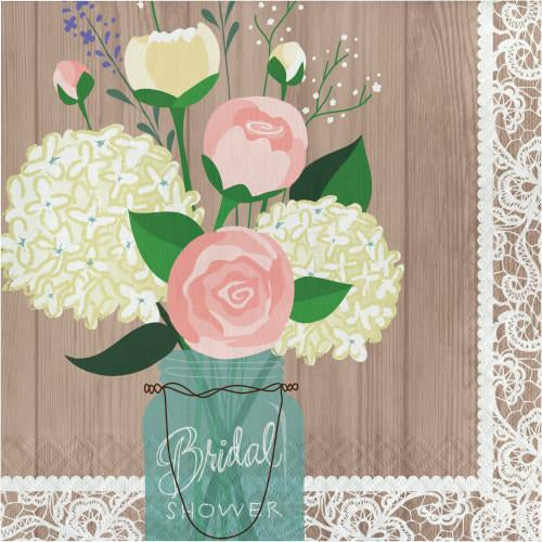 Rustic Wedding Bridal Shower Lunch Napkins
