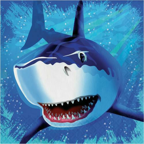 Shark Splash Lunch Napkins 16ct