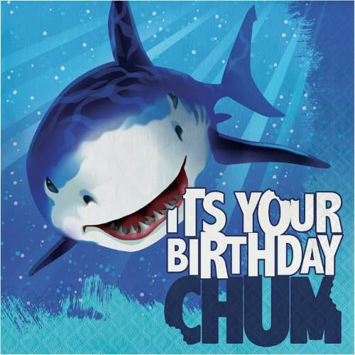 Shark Splash It's Your Birthday Lunch Napkins 16ct